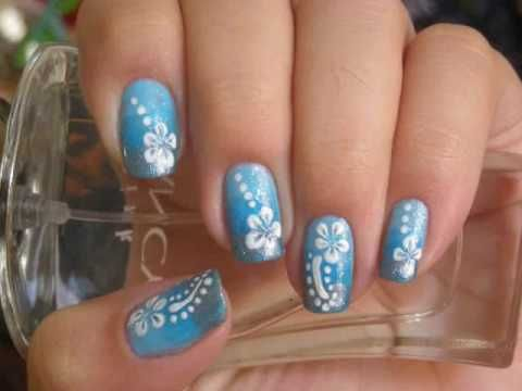 Flower and dot design. I can use my new nail stamp for this! - Flower And Dot Design. I Can Use My New Nail Stamp For This!!! :o