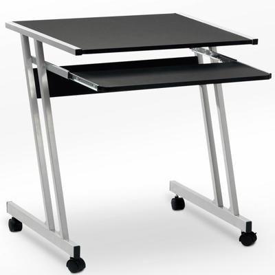 Bureau Informatique Meuble Pc Ordinateur Table Tiroir Rangement Noir Roulettes Meuble Pc Bureau Informatique Rangement Noir