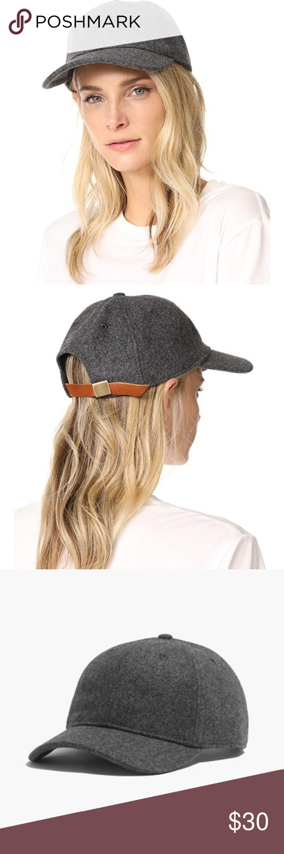 Madewell Wool Blend Baseball Cap in Heather Gray New with tags! Ships  quickly from a d44615d20043