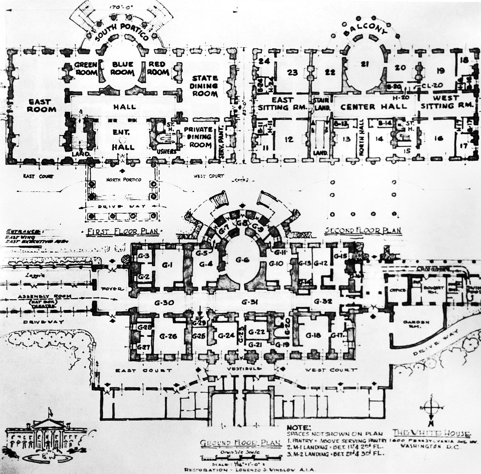 Marvelous White House Floor Plan    Lorenzo Winslowu0027s Circa 1947 Plan For Changes To The  White House, Close To The Actual Implementation