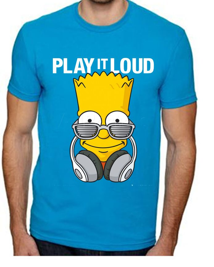bf656e66006ef  179.00 Playera Simpson Bart Play it Loud - Comprar en Jinx