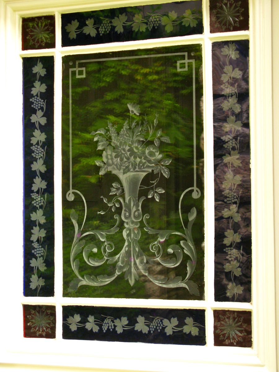 Beautiful Etched Glass Door Talesfromcarmel Home Designed