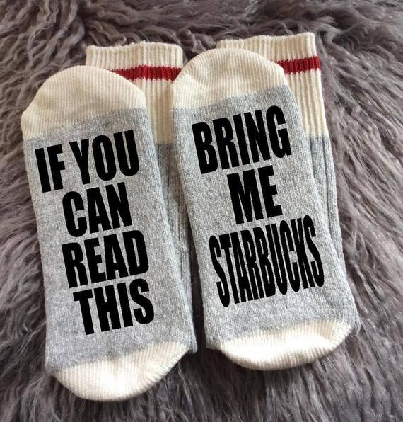 Starbucks-Starbucks Gift-Starbucks Socks-Latte Gift-Coffee