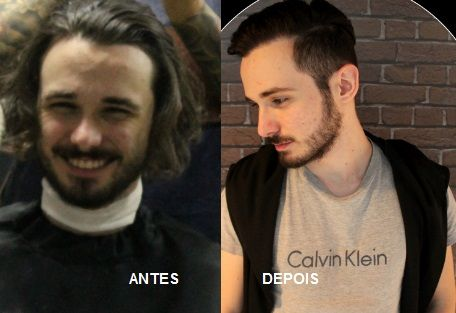 Katia Miyazaki Coiffeur - Salão de Beleza em Floripa: corte masculino -  antes e depois - corte executiv...