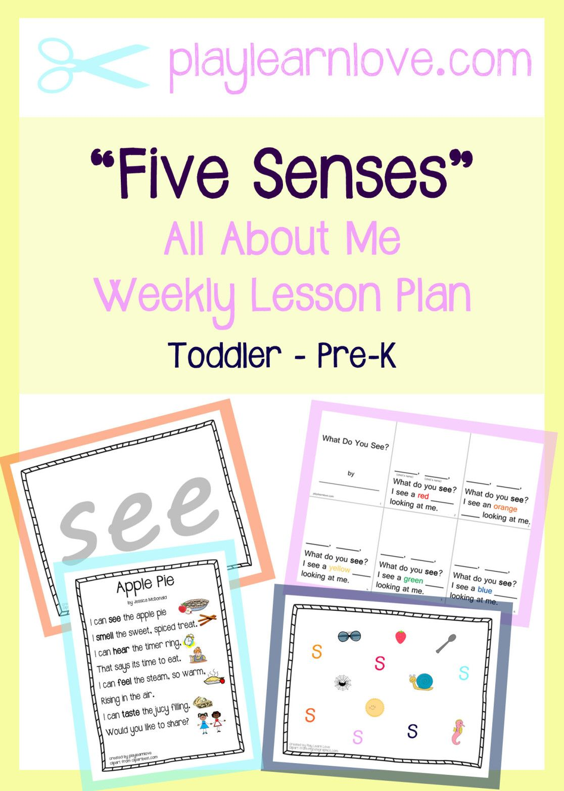Five Senses Lesson Plan All About Me Themed Crafts And