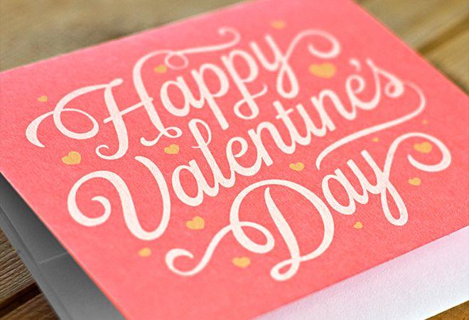 valentine day script card writing design | Valentine\'s Day stuff ...