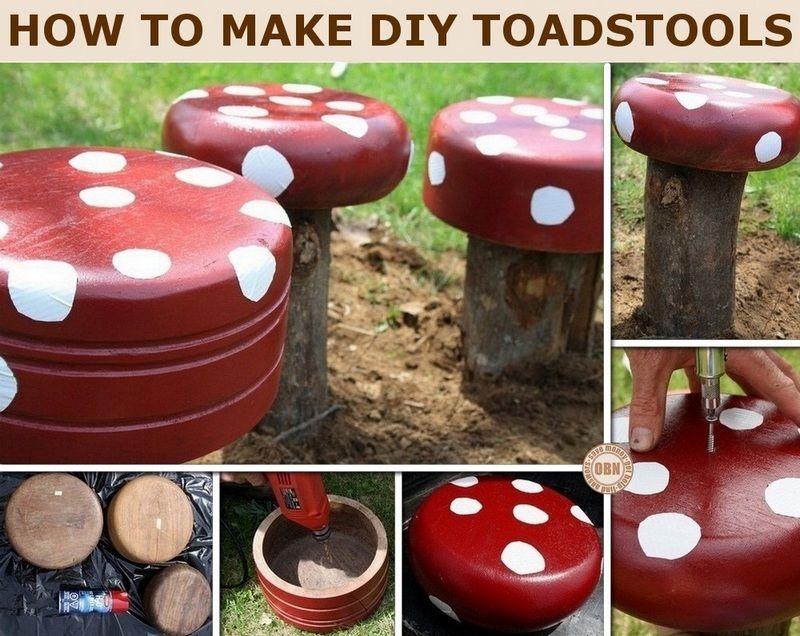 Diy Toadstools Backyard Easy Diy Projects And Diy Furniture
