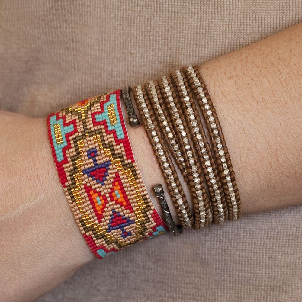 0fa5e57847d Red Mix Beaded Cuff Bracelet - Chan Luu | So many talented people ...