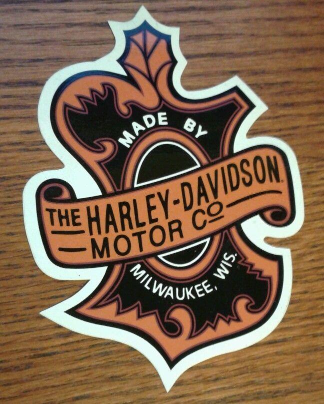 Harley Davidson Vintage Oak Leaf Decal Sticker No Reserve