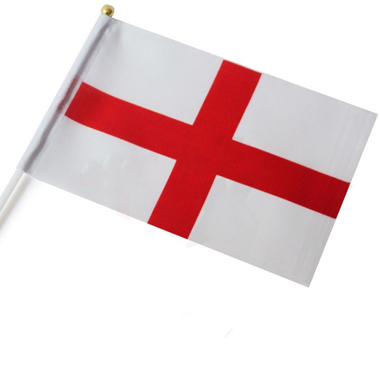 Dojore Small England Hand Flag The Saint Georges Cross Game Supporter Car Travel Banner