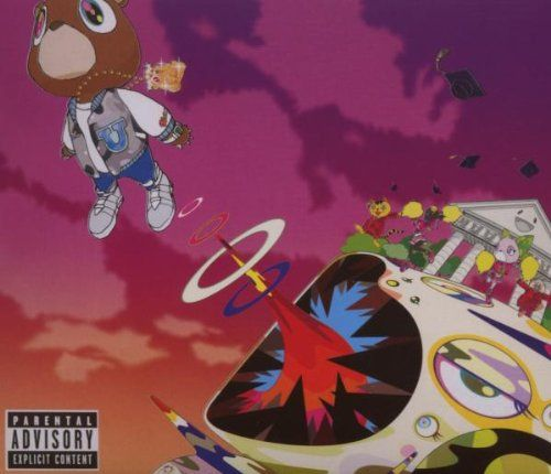 Kanye West Graduation Not As Good As His First Two But Stronger And Can T Tell Me Nothing Are T Kanye West Album Cover Graduation Album Rap Album Covers