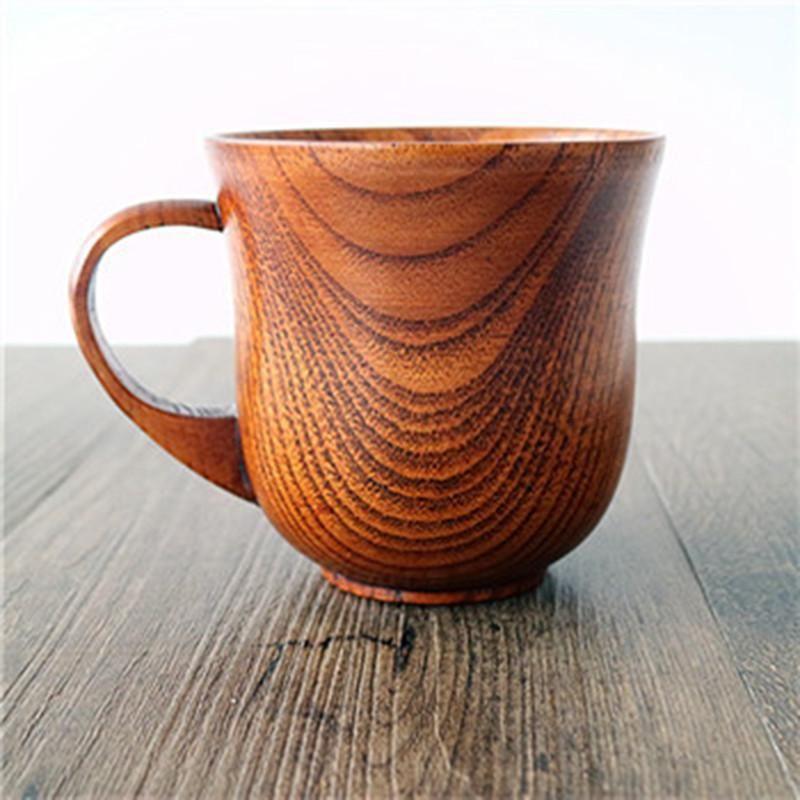 Natural Wooden Coffee Mug Beer Wood