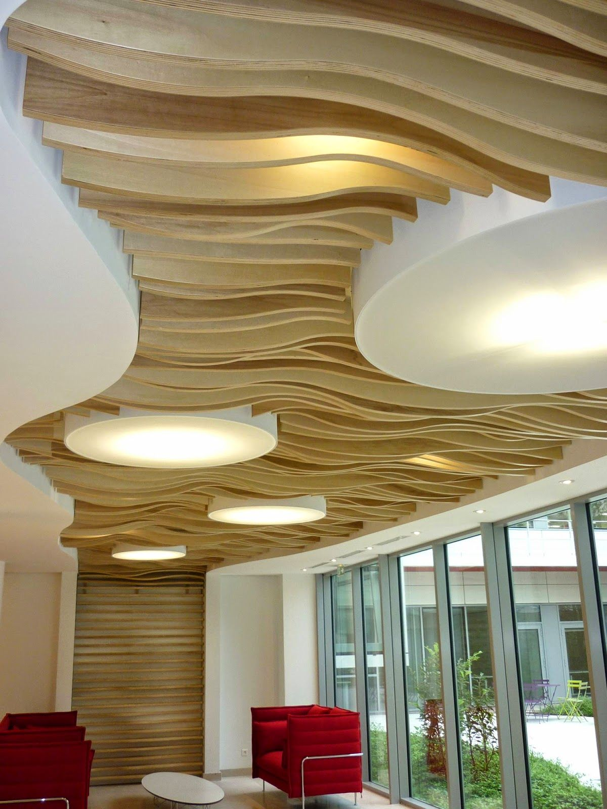 Batiment bepos 92 commercial ceiling design false - Living room false ceiling designs ...