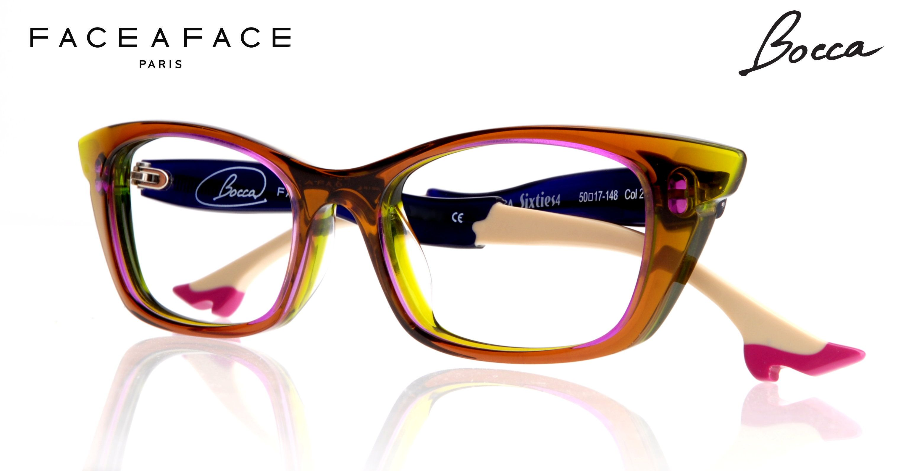 Face a Face BOCCA eyewear with legs and shoes. www