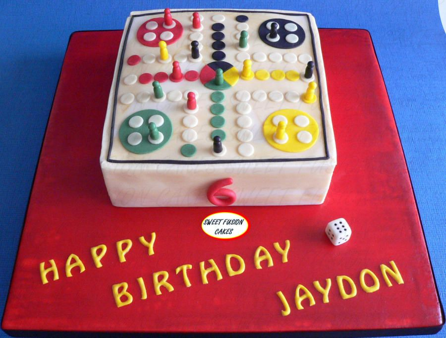 Wooden Ludo board game Cake by Sweet Fusion Cakes Anjuna Cakes