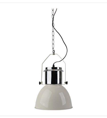 Industriedesign Lampe 42cm Chrome Weiss Hangelampe Im Industriedesign