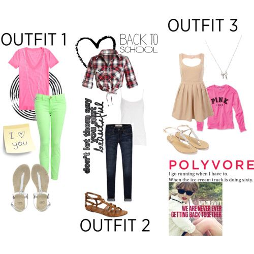 3 beautiful outfits