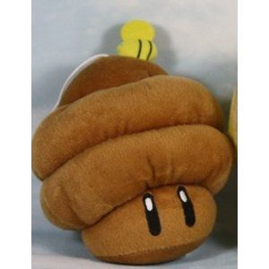 Super Mario Brothers 7 Brown Mushroom Beehive Plush Doll Super