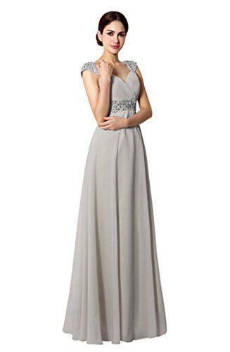 Ikerenwedding Women's Long Chiffon A-line Beading Bridesmaid Evening Dresses Grey US2 Ikerenwedding http://www.amazon.com/dp/B013HXKYQ6/ref=cm_sw_r_pi_dp_B8.Wvb1WNKVQG