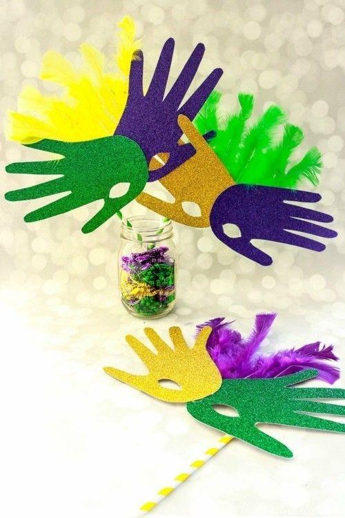 Basteln mit Kindern zu Fasching – 55 kreative und ganz einfache Bastelideen