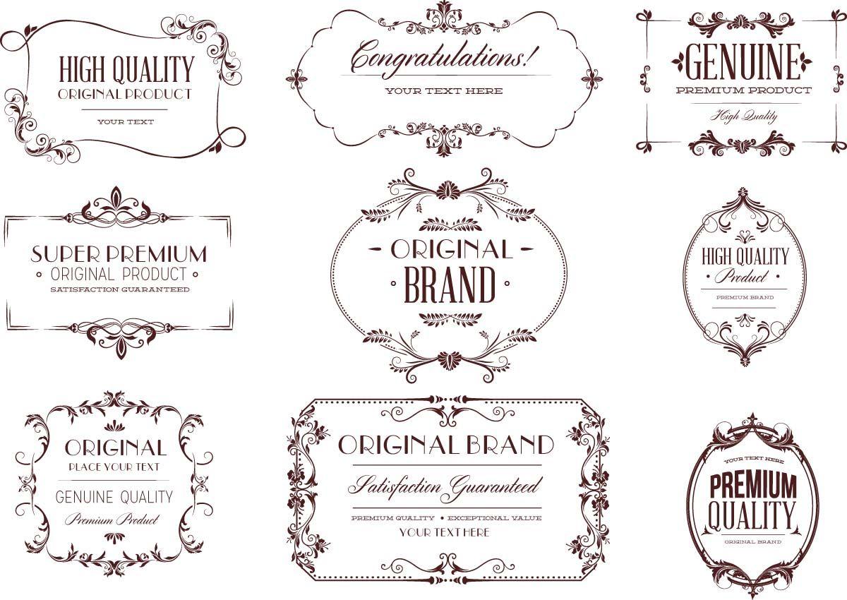Vintage typography design elements frame set vector free vintage vintage typography design elements frame set vector stopboris Image collections