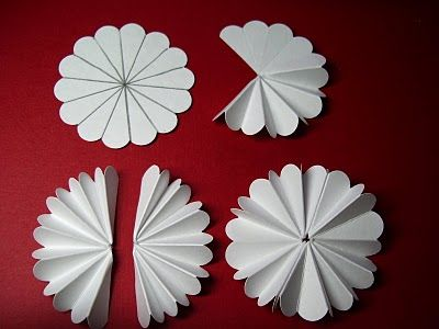 How To Make Scalloped Edge Paper Rosette Decoration Wedding And