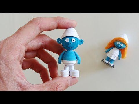 How To Make 3D Quilling Smurf /Artoholic/3D Quilling