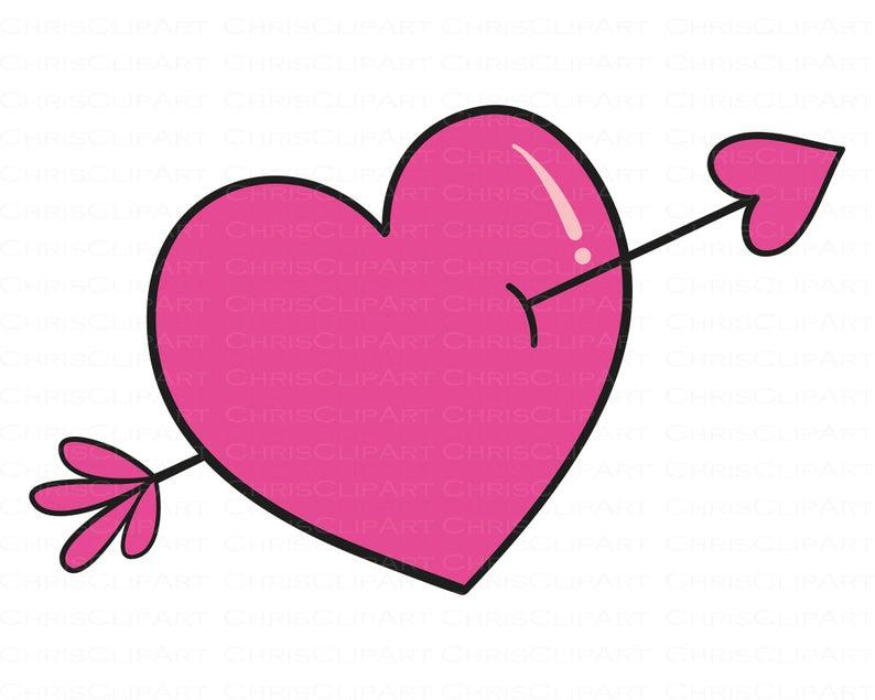 Heart With Arrow Clipart Heart With Arrow Svg Etsy In 2021 Heart With Arrow Clip Art Valentine Svg Files