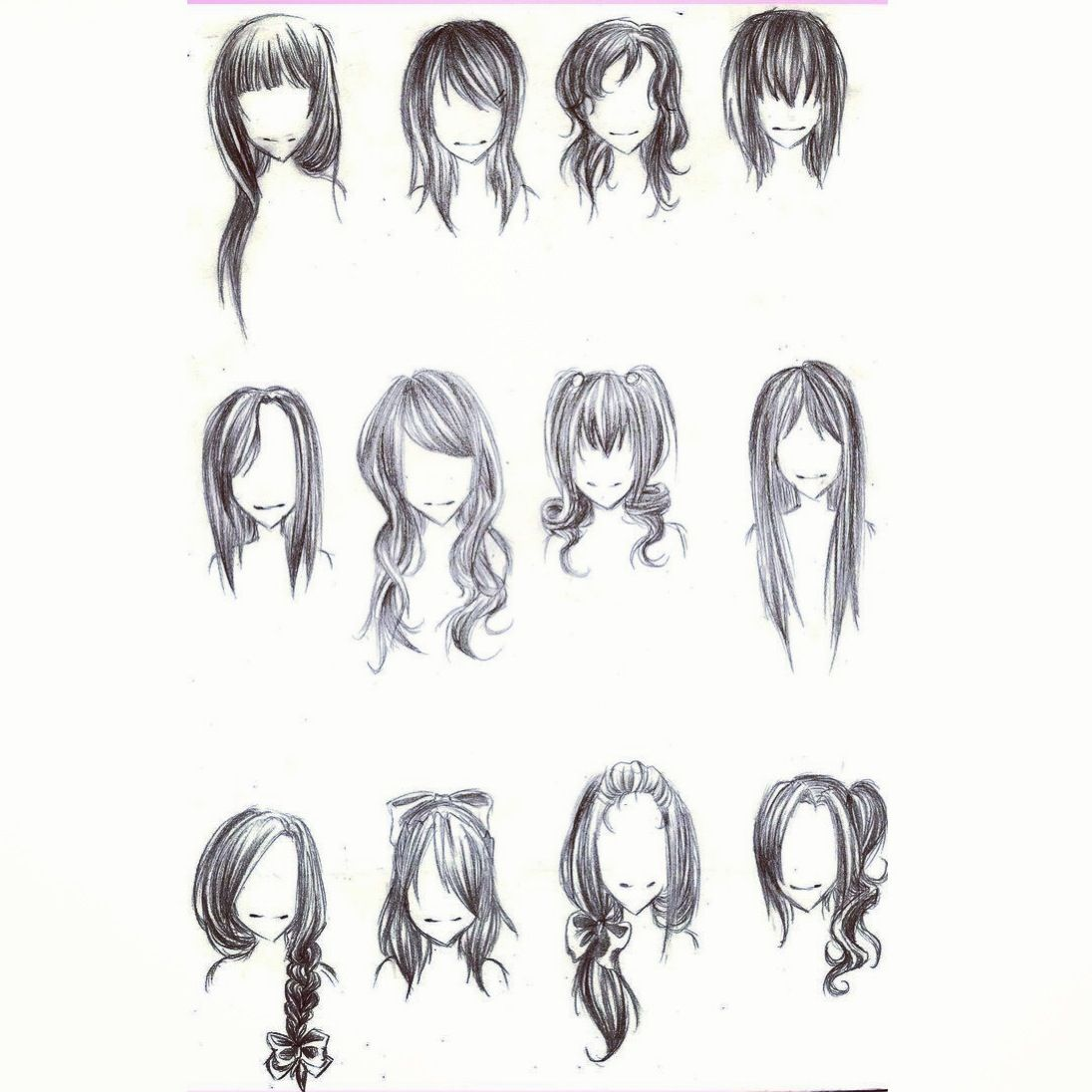 Long Straight Hair Drawings Www Pixshark Com Images Galleries With A Bite