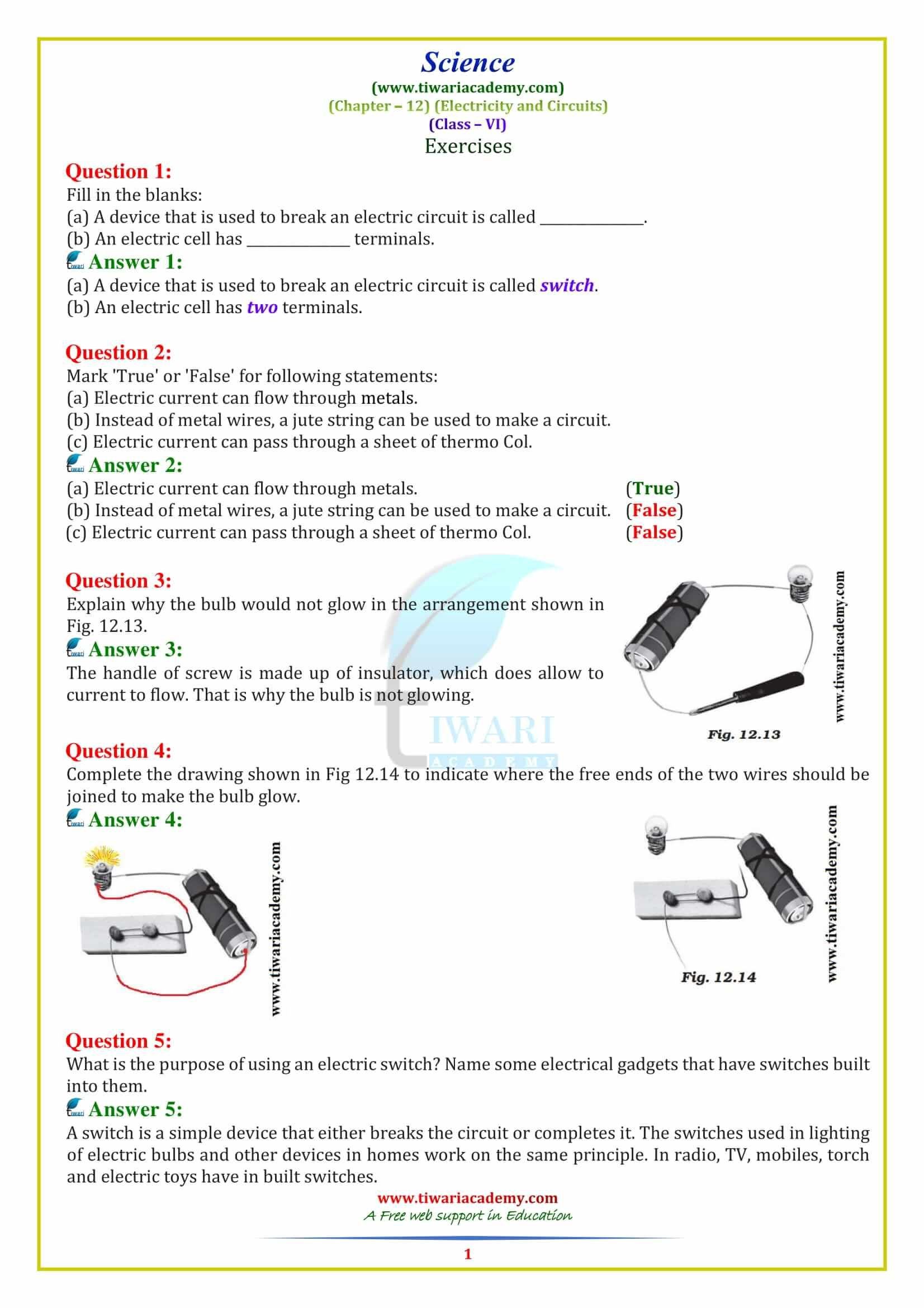 Download Ncert Solutions For Class 6 Science Updated For
