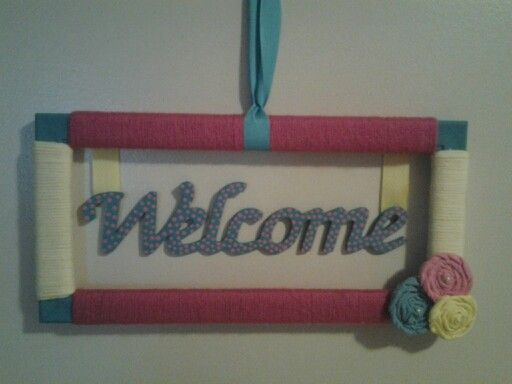 Yarn wrapped frame wreath | My Creations | Pinterest | Frame wreath ...