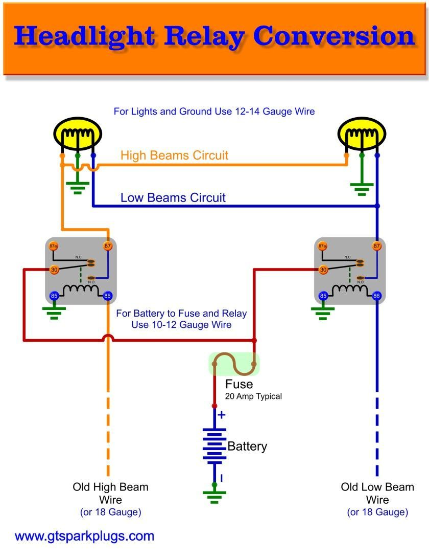 Headlight Relay Wiring Diagram Electrical Circuit Diagram Relay Electrical Diagram