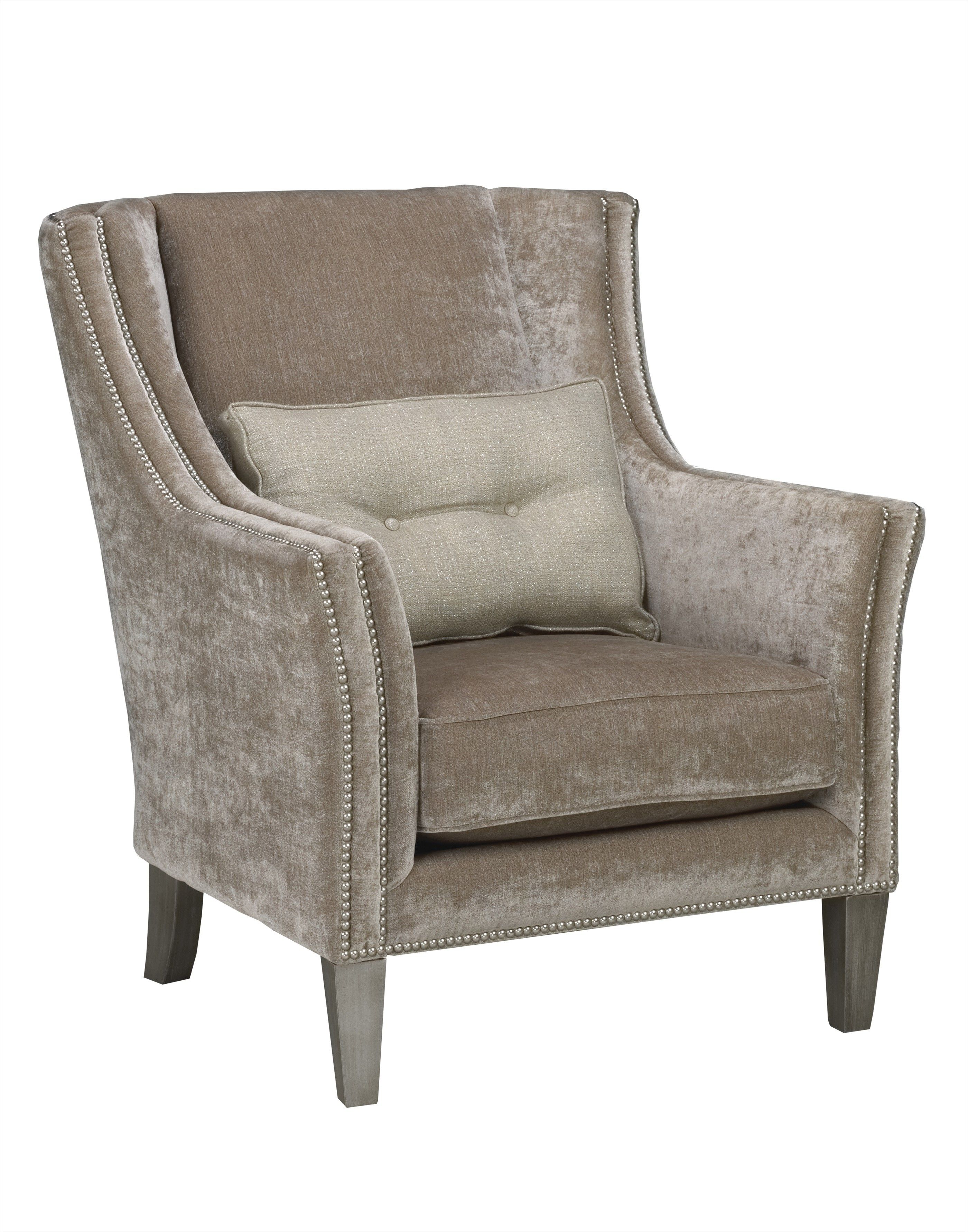 Accent Furniture For Living Room Sofa Set Stylish Gray Velvet Upholstered Chairs With Chic Cushions As Inspiring Furnishing Designs