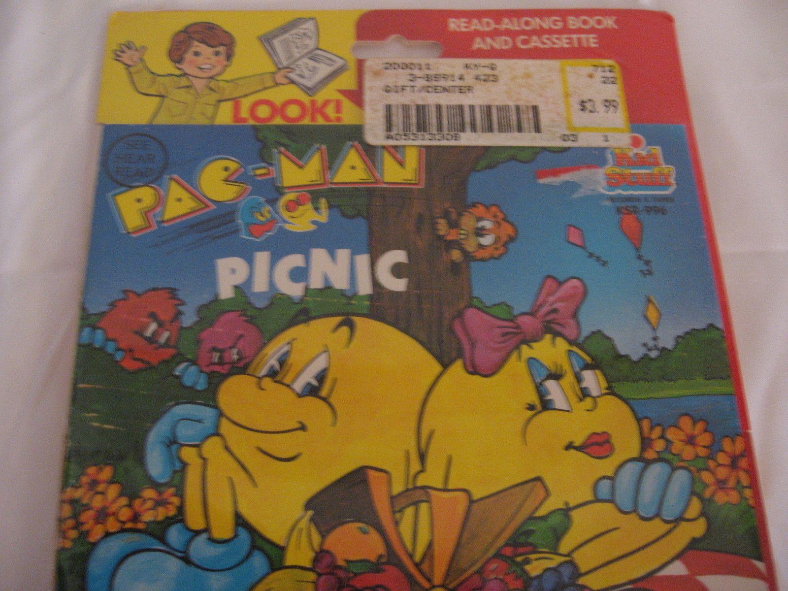 Vintage 80's Pacman MS Pacman Picnic See Hear Read Book