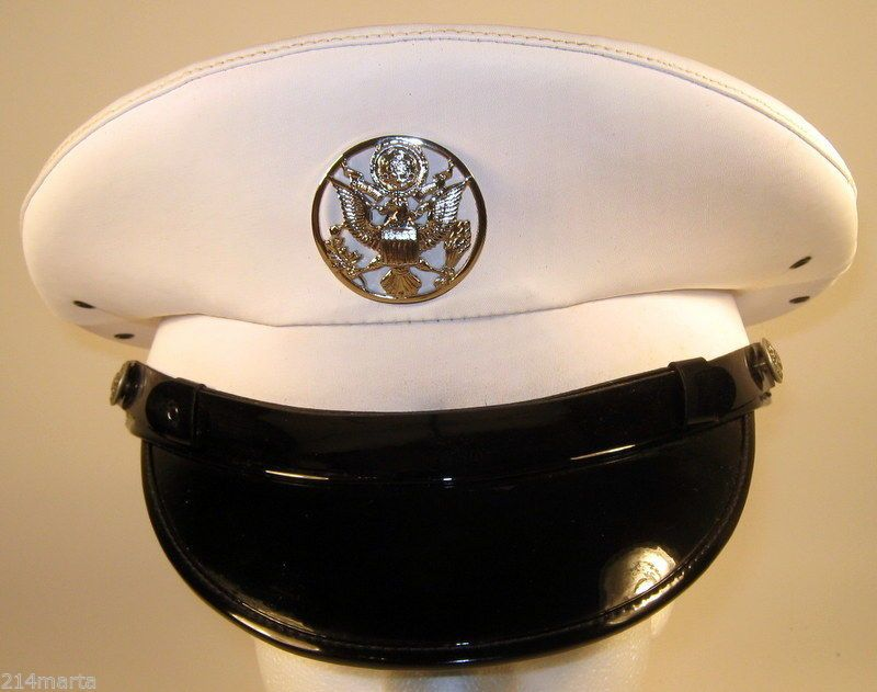 a0c383ce832 US Air Force USAF Security Police SP Enlisted Service Dress White Hat Cap 7  7 8