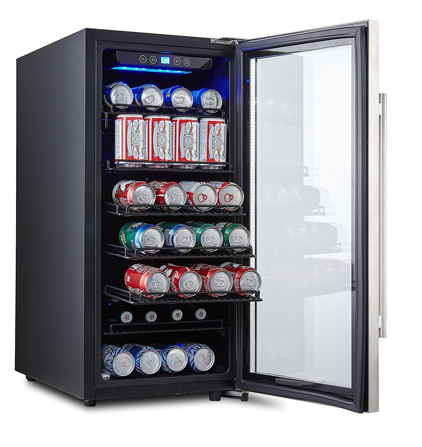 phiestina ph cbr100 106 can beverage cooler stainless door with