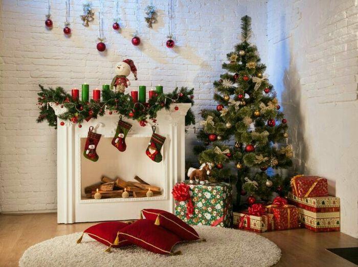 d co de no l fausse chemin e no l decoration cheminee. Black Bedroom Furniture Sets. Home Design Ideas