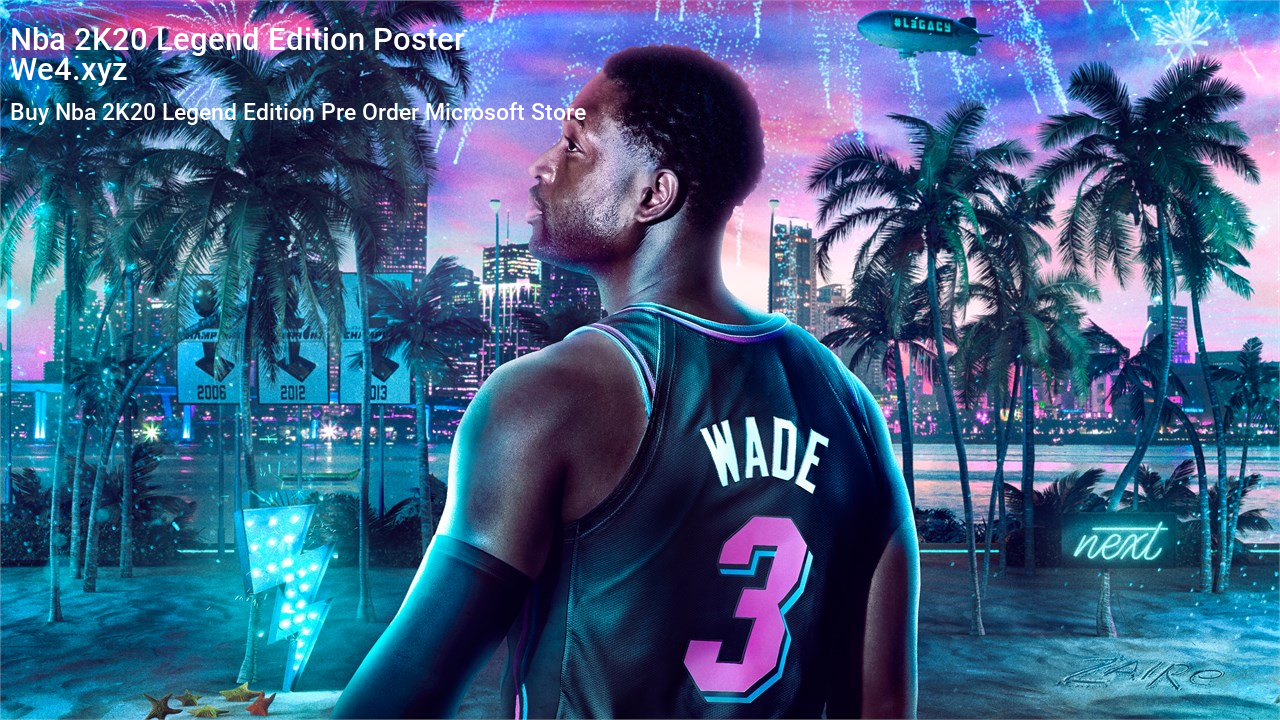 Nba 2k20 Legend Edition Poster Ps4 Or Xbox One Nba Nba Teams