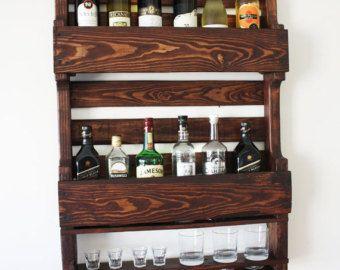Botellero de pared regalo para hombres regalo por - Botelleros de pared ...