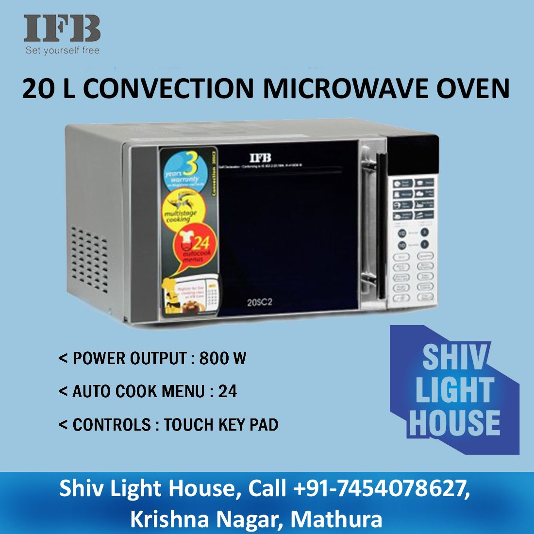 Feast On A Great Roast With The Ifb 20 L Convection Microwave Oven It S Deodorizer Feature Keeps Clean And Odor Free While Roasting Through
