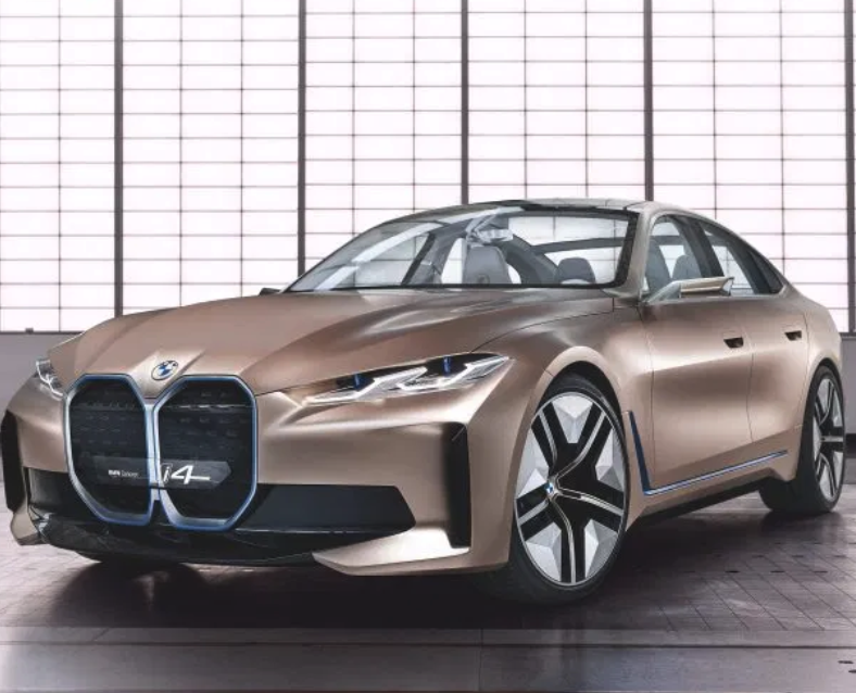 Bmw Unveils I4 Electric Car A Stunning Gran Coupe With A Massive Screen In 2020 Bmw Concept Bmw Bmw Design