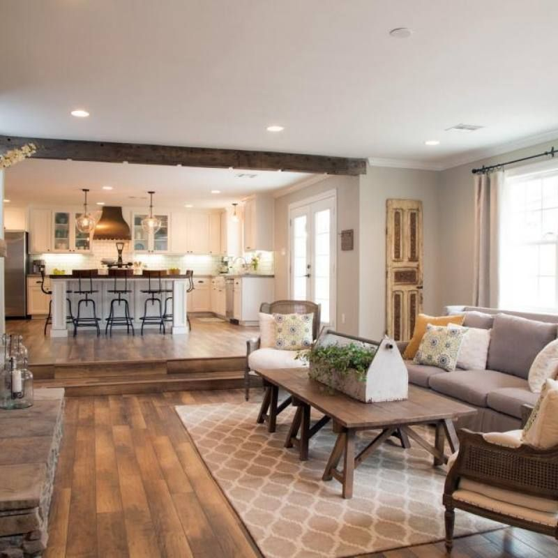 Room Redo: Open Concept Modern Farmhouse Living Room (With