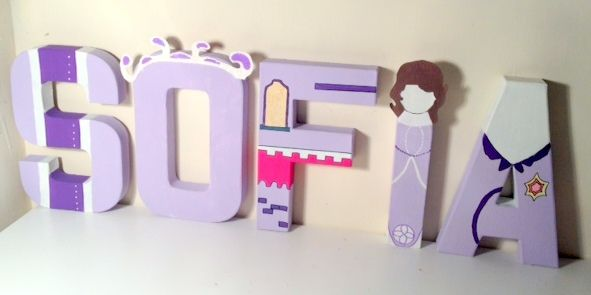 Sofia The First Inspired Character Letters Disney Crafts Disney