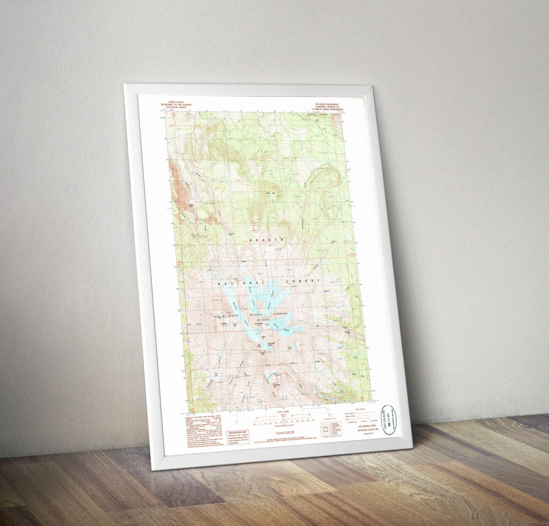 Turquoise Topographic Map Bench Midcenturymodern