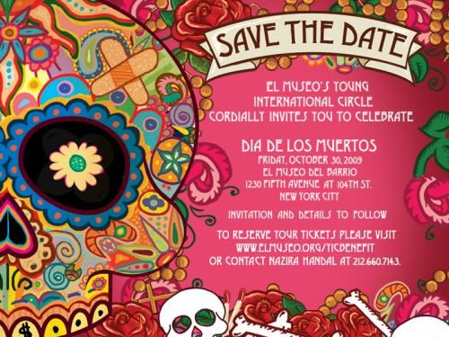 Ddlm Save The Date Halloween Invitations Day Of The Dead Party Day Of The Dead