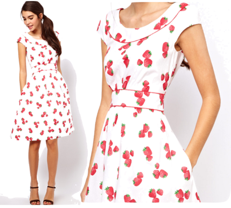 Image result for photos of strawberry print clothes