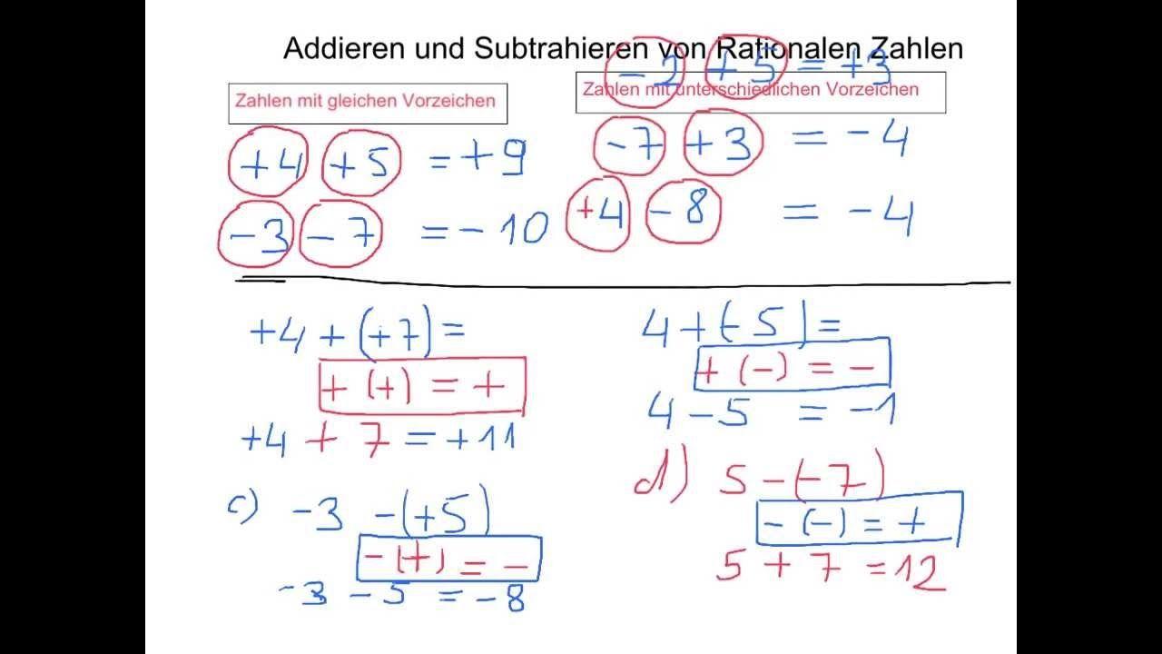 27 Arbeitsblätter Mit Negativen Zahlen Addieren Und Subtrahieren ...