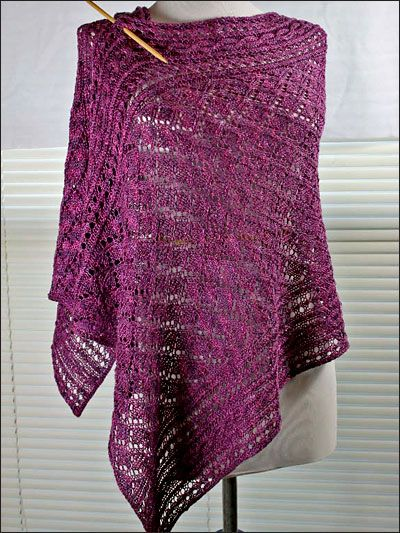 Amethyst Wrap Knitting Pattern Download From E Patternscentral