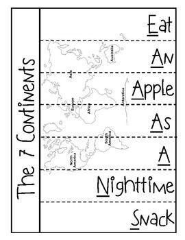 Social Studies Mnemonic Flip Book Pages