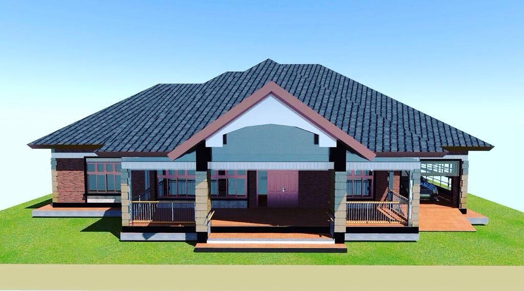 3 Bedroom House Plan For A Medium Family In Kenya Two Bedroom